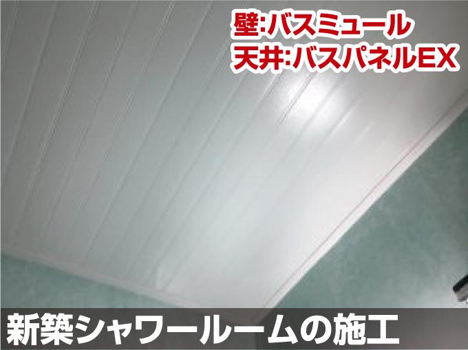 千葉市浴室リフォーム工事 壁:バスミュール 天井:バスパネルEX