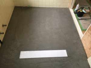神奈川県横浜市南区 浴室床改修工事 (フクビ)
